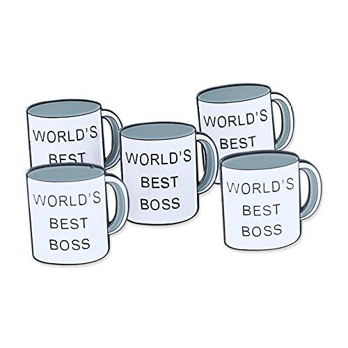 World's Best Boss Office Enamel Lapel Pin - 5 Pins