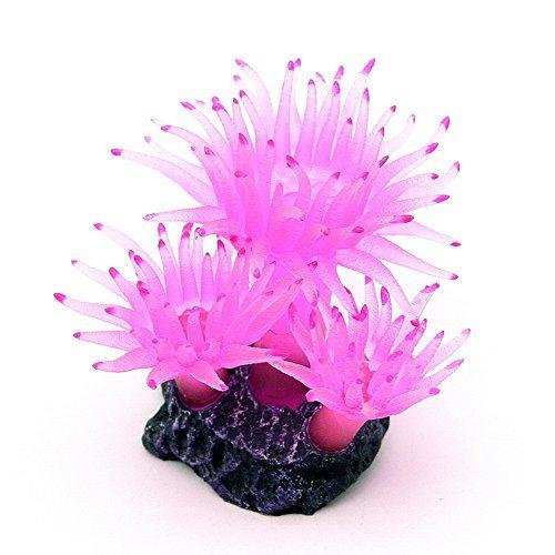 Aquarium Fish Tank Silicone Artificial Coral (Purple) - 4