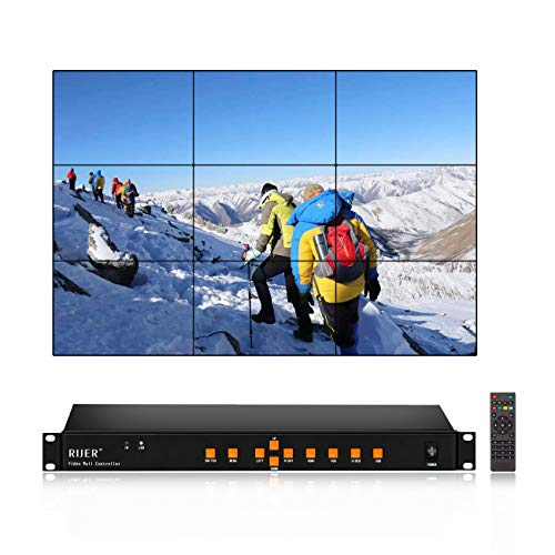 3x3 Video Wall Controller HDMI HD TV 1080P Matrix Processor Splicer Splitter Support USB HDMI VGA AV Input 3x2 2x2 3x1 1x3-9 2x3 4x2 2x4 9 Output Composite Video