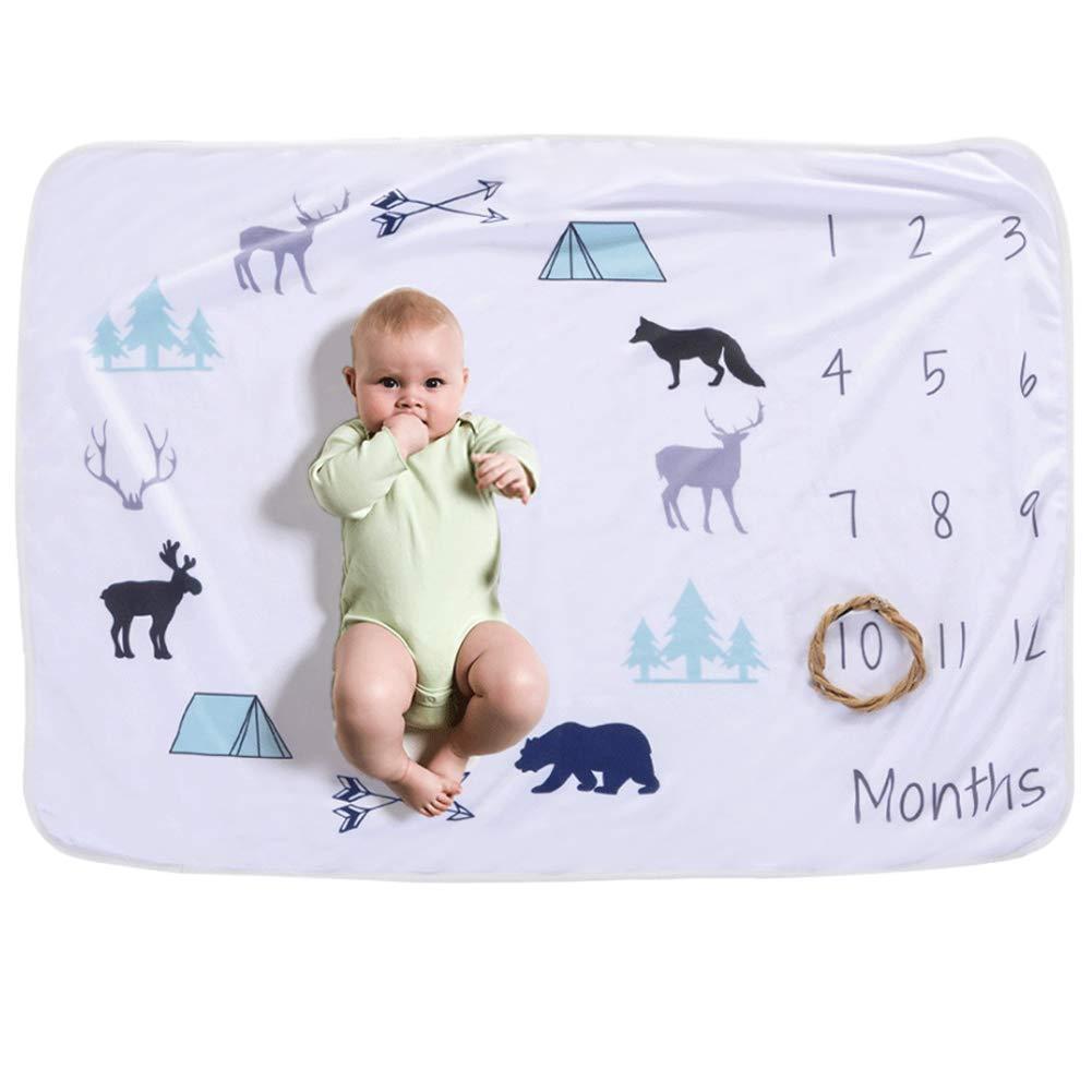 A01 COUXILY Meilenstein Decke f/ür Neugeborene oenbopo Baby Monatliche Milestone Fotografie Requisiten Shoots Hintergrund Tuch 76 102 cm
