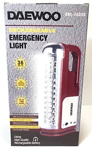 Daewoo DRL-1025S Rechargeable Emergency Flashlight LED Lantern 220-volt, Will Not Work in USA … by Daewoo