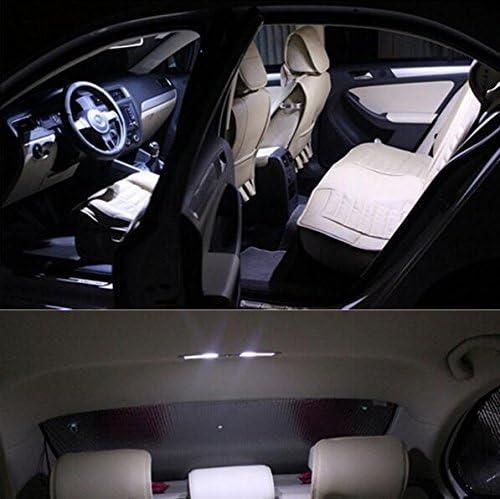 blanco muchkey/® 2//× 30/mm LED Festoon Interior blanco iluminaci/ón interior coche interior Festoon C5/W Canbus Soffite 5050/SMD chip