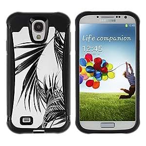 "Pulsar iFace Series Tpu silicona Carcasa Funda Case para Samsung Galaxy S4 IV I9500 , Negro Blanco hojas de palma Tropics de Miami"""