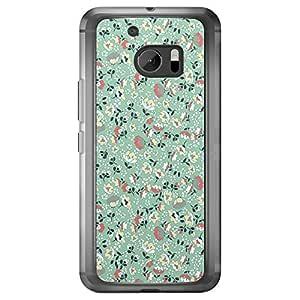 Loud Universe HTC M10 Floral Decorative Printed Transparent Edge Case - Multi Color
