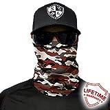 Salt Armour Face Mask Shield Protective Balaclava Bandana Microfiber Tube Neck Warmer (Crimson Military Camo)