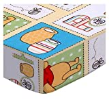SheetWorld Fitted Portable Mini Crib Sheet - Winnie The Pooh Patch - Made in USA