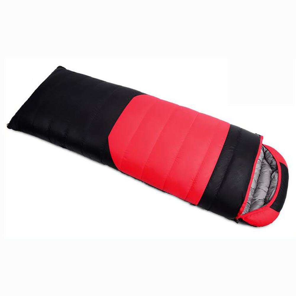 MIAO Sleeping Bag - Outdoor Autumn and Winter Camping Adult Envelopes Down (1200g) Sleeping Bags , red