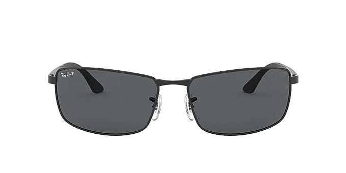 Ray-Ban 0RB3498 Gafas de sol, Matte Black, 64 para Hombre: Amazon ...