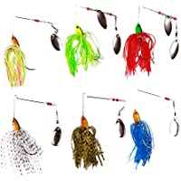 FREE FISHER 6 Fishing Hard Spinner Lure Spinnerbait Pike...