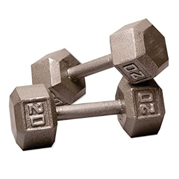 Body-Solid Iron Hex Dumbbell Pairs