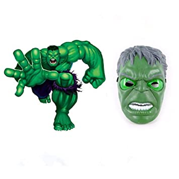 morningsilkwig Hulk Máscara Movie Fantastic Four Cosplay Hombres látex Juguete del Partido para Halloween (S