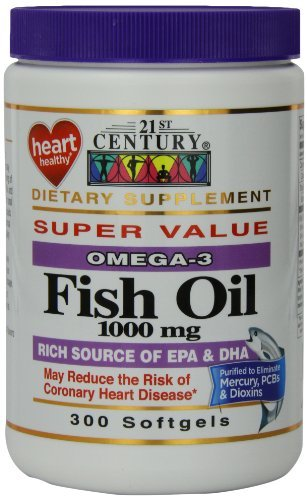21st Century Fish Oil 1000 mg Softgels, 300-Count by 21st Century