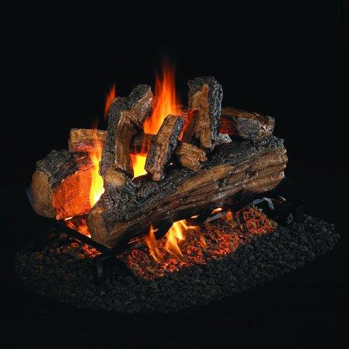 - Peterson Real Fyre 24-inch Split Oak Designer Plus See-thru Gas Log Set With Vented G45 Burner