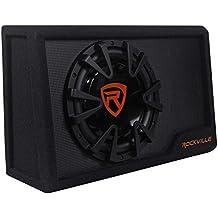 "Rockville RWS10CA Slim 1000 Watt 10"" Amplified Powered Car Subwoofer Enclosure"