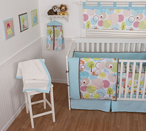 (Crib Bedding Set 4 Piece Sweet Petite Animals by Sumersault)