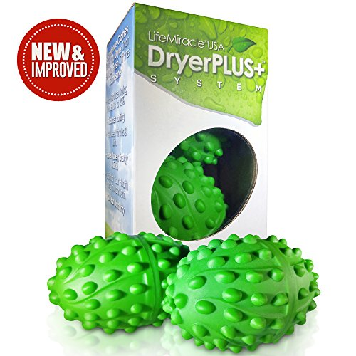 Life Miracle Dryer Balls -The BEST Permanent Non Toxic, Allergy and Chemical Free Fabric Softener. Replaces Liquid Softener, Dryer Sheets & Wool Dryer Balls. Soften Clothes Naturally 2 Year Warranty (Washer Dryer Warranty)