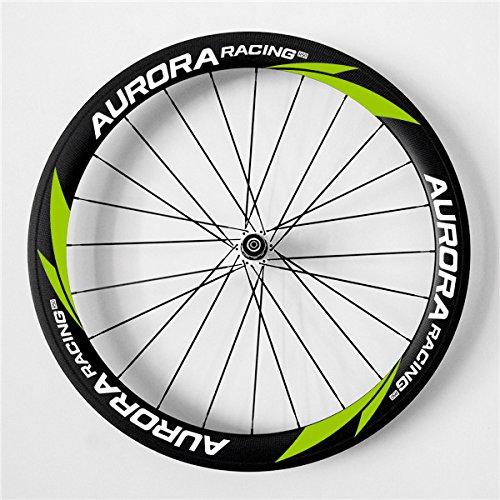 Aurora Racing 50 mm de profundidad 25 mm de ancho para bicicleta de carretera Clincher Carbon juego de ruedas 700 C para Shimano 10/11 Velocidad Novatec ...