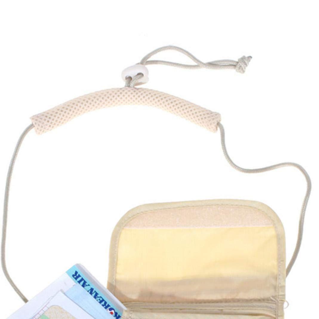 pasaporte bolsa de nailon antirrobo color beige negro negro tel/éfono m/óvil YSHTAN otras bolsas de deporte bolso de cuello bolso de viaje tama/ño mini Bolsa antirrobo