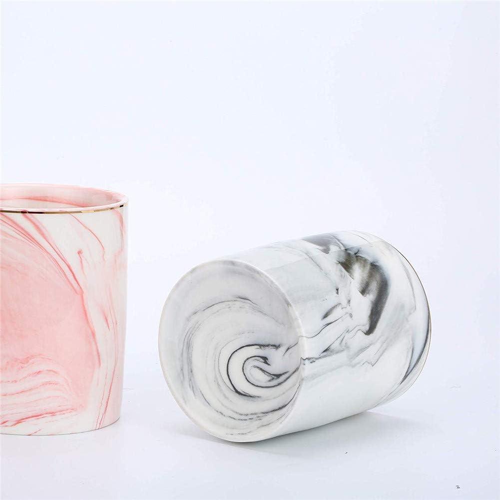 bicchieri per scrivania ufficio e scuola SunEast Portapenne in ceramica con motivo marmo per matite porta pennelli da trucco colore rosa Gray Octagon cancelleria da scrivania