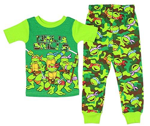 Turtle Pant Kids - Teenage Mutant Ninja Turtles Little Boys Cotton Pajama Set (4T)