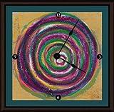 Green Leaf Art Circulation I Art Clock, 11 by 11-Inch For Sale