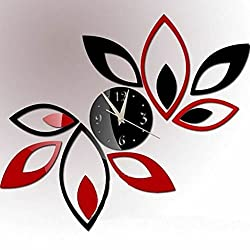 BCHZ Modern Home Decoration Crystal Mirror Living Room Sticker 3D DIY Wall Clock Gift