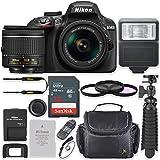 Nikon D3400 24.2MP DSLR Camera with AF-P 18-55mm VR Lens Kit + 32 GB Sandisk Memory Card + Spider Flexible Tripod + Gadget Bag + Starter Accessory Kit (Certified Refurbished)