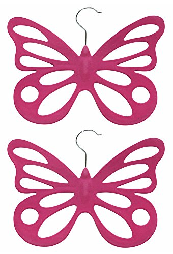 Evelots 2 Velvet Butterfly Scarf Hangers - Organize & Store Scarves - - Store Countryside
