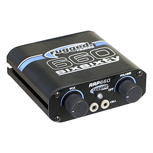 Rugged Radios RRP660 2-4 Place Intercom Featuring VOX and 3.5mm Input Jack for Music / MP3 Players