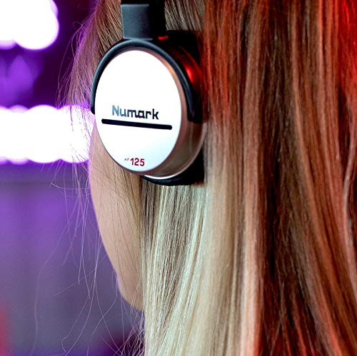 Numark HF125 | Ultra-Portable Professional DJ Headphones With 6ft Cable, 40mm Drivers for Extended Response & Closed Back Design for Superior Isolation