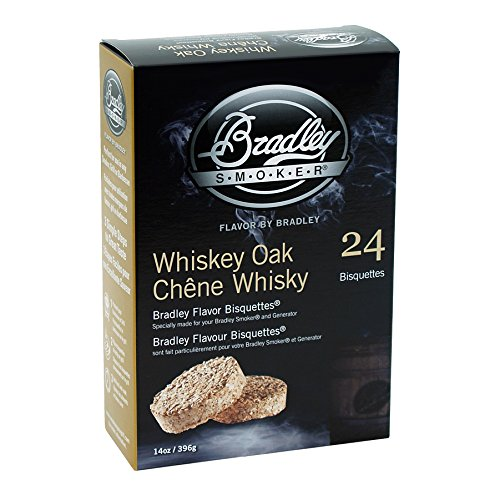 - Bradley Smoker BTWOSE24 Bisquettes, Whiskey Oak Special Edition, 24 Pack, One Size