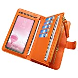 Leather Wallets for Women Aeeque Women's Wallet Purse Touch Screen Phone Bag Large