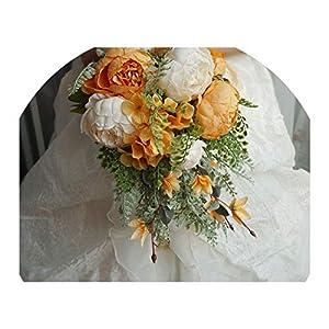 Wedding Bouquet Romantic Orange Wedding Flowers Bridal Bouquets Ramos De Novia Handmade Flower Bridesmaid Bouquets 115