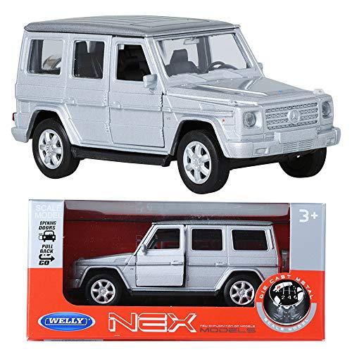 WELLY NEX MODELS 1:34 Mercedes-Benz G-class Silver Die-cast Metla Toy Miniature (Best Mercedes Benz Model)