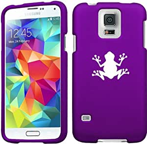 Samsung Galaxy S5 Snap On 2 Piece Rubber Hard Case Cover Frog (Purple)