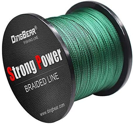 Dingbear 1093Yd//1000m 135LB//0.60mm White Super Strong Pull Generic Braided Fishing Line Kite Line Woven Network Cable Cast Super Strength Fishing Line
