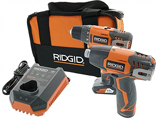 (Ridgid R9000K 12V Hyper Lithium-Ion Drill / Driver Combo Kit (Includes: 1 x R82005 Drill, 1 x R82230 Impact Driver, 1 x AC82049 2AH Battery, 1 x AC82059 4AH Battery, 1 x R86049 Charger))