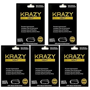 Krazy Night Black Best Male Enhancing Natural Performance 5 Pill The New Most Effective Natural Amplifier for Performance, Energy, and Endurance (5 Pills) natural male enhancing - 51nVaE1nUxL - natural male enhancing