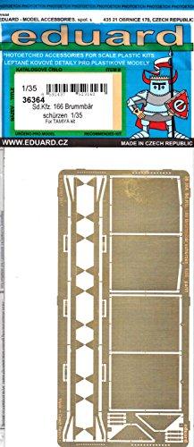 エデュアルド 1/35 ドイツ4号突撃戦車 ブルムベア後期型 シェルツェン タミヤ用 プラモデル用パーツ EDU36364