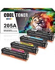 Cool Toner 4-Pack Kompatibel für HP CF530A CF531A CF532A CF533A Toner HP 205A Toner für HP Color Laserjet Pro MFP M180n M180nw M181fw, HP Color Laserjet Pro M154nw M154a, HP M180n Toner HP M154nw