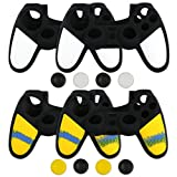 liveMAX PS4 Controller Cover Case Silicone Skins for PS4 Controller Camo White&Yellow 4 Packs