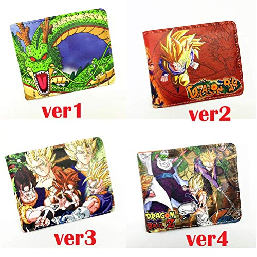LQT Ltd The Classic Anime Dragon Ball Z Wallet Young Men and Women Students Short Wallets Japanese Cartoon Comics Purse Dollar -