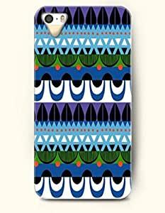 OOFIT Aztec Indian Chevron Zigzag Native American Pattern Hard Case for Apple iPhone 5 5S ( iPhone 5C Excluded ) Cute Aztec Pattern Of Curtain Shape