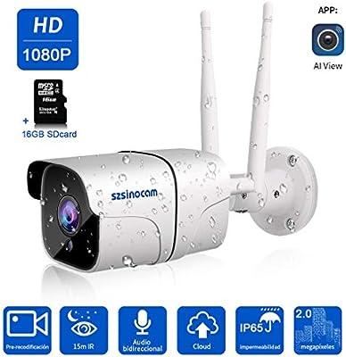 Cámara 1080P Vigilancia IP Cámara WIFI,SZSINOCAM cámara ip Smart ...