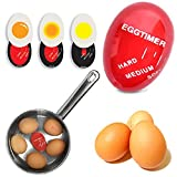 TeeNoke Egg Color Changing Timer Yummy Soft Hard Boiled Eggs Cooking Kitchen Tools