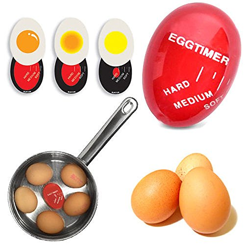 Price comparison product image TeeNoke Egg Color Changing Timer Yummy Soft Hard Boiled Eggs Cooking Kitchen Tools