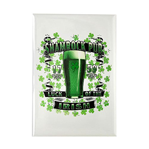 Rectangle Magnet Shamrock Pub Irish St Patrick's Day ()