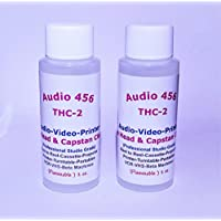 2 Audio 456 THC-2 Audio Video Tape Head & Capstan Cleaners (2 oz each bottle) for Reel to Reel+Cassette+Tape Echos+Printers+Projector+ Portables+ Handhelds+VCR Beta Machines.(formally SR-Audio)