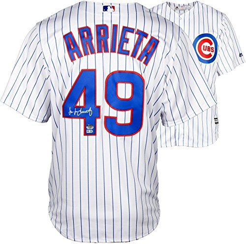 Jake Arrieta Chicago Cubs Autographed Majestic White Replica Jersey - Fanatics Authentic Certified - Autographed MLB Jerseys Chicago Cubs Autographed Majestic Jersey