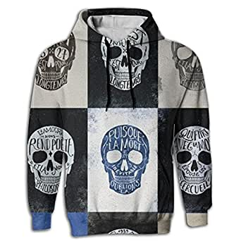 Mens 3D Digital Printing Hoodies Sweatshirts Pockets All Over Print Sweaters Happy Halloween Skull Men 3d Printed Drawstring Pockets Pullover Hoodie Hooded Sweatshirt